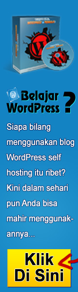 Banner Tutorial WordPress Pemula 160x600