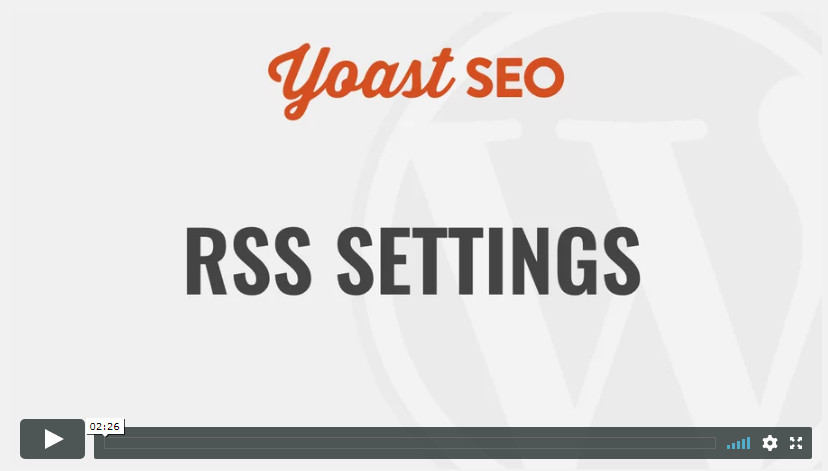 RSS Settings